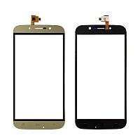 Сенсорный экран (тачскрин) Umi Rome X | S-Tell M555 | Bravis A553 | Kiano Elegance 5.5 золотистый