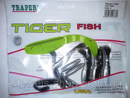 "Силикон  рыболовный TRAPER-""TIGER FISH"" 70мм kolor 5, фото 2"