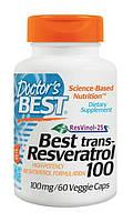 Ресвератрол (Resveratrol), Doctor's Best, 100 мг, 60  капсул