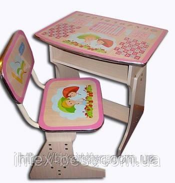 Регулируемая детская парта растишка со стульчиком Bambi HB-F2029-02