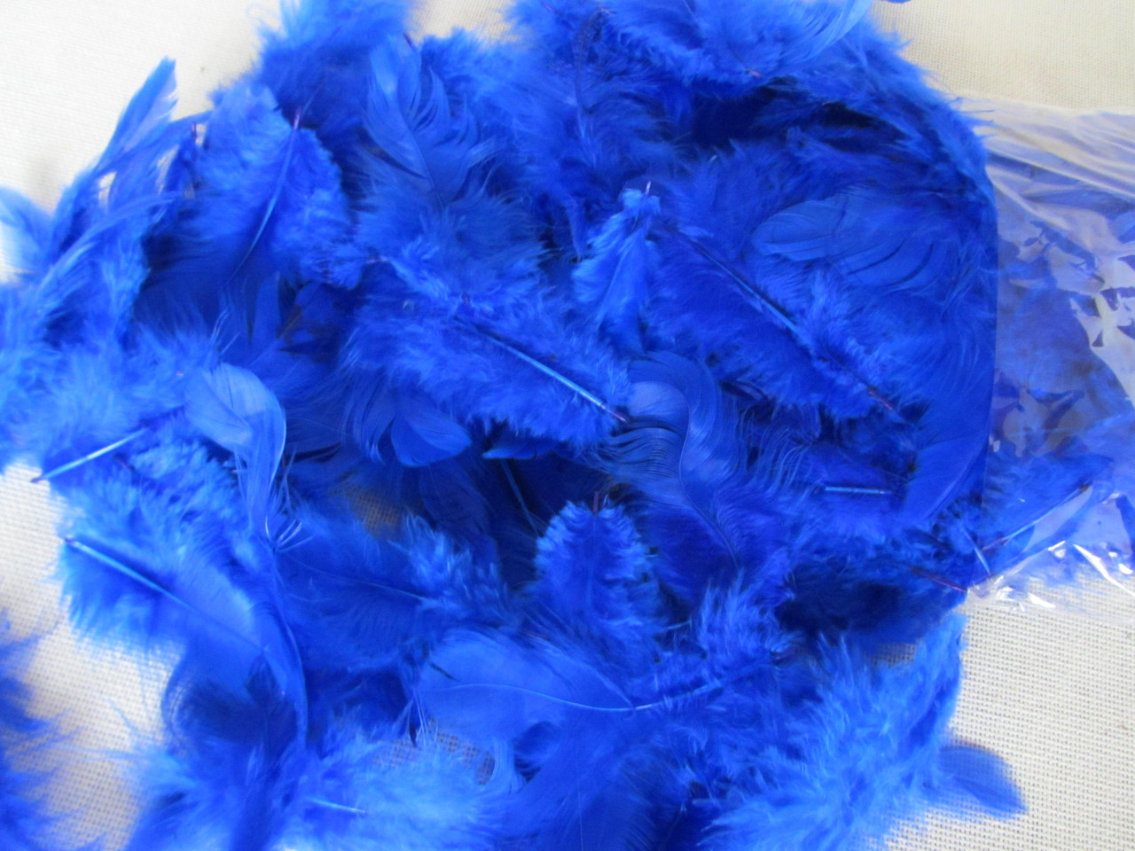 Перья цветные (размер упаковки 20Х11 см)  30/25 (цена за 1 шт. + 5 гр.)