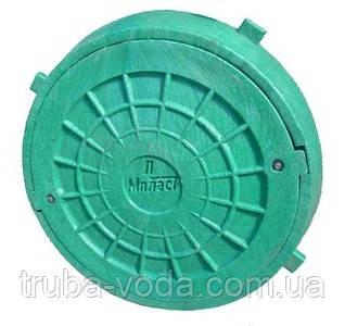 Люк пластиковый с замком зеленый (до 2т.)