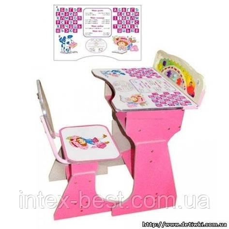 Регулируемая детская парта растишка со стульчиком Bambi HB 2075-02, фото 2