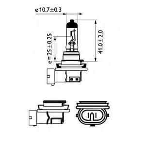 Светодиодная лампа SLP LED в противотуманные фонари с цоколем H11/H8 OSRAM 60W 9-30V 960lm Белый, фото 2