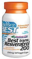 Ресвератрол (Resveratrol), Doctor's Best, 200 мг, 60  капсул