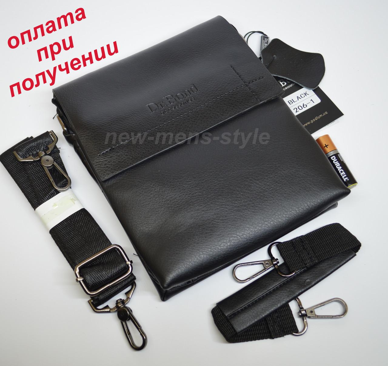 27c1bb66c4e9 Мужская чоловіча кожаная натуральная сумка барсетка на плечо Dr. BOND2