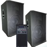 Акустический комплект BIG SET2*15-500A активная + пассивная-USB/MP3/FM/BT