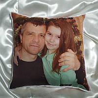 Подушка с фото 34см*34см, печать с двух сторон