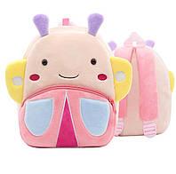 Рюкзак велюровый для ребенка дошкольного возраста Berni Бабочка Розовый (48320)