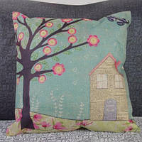 Смешное постельное белье дерево и дом Pattern декоративные Наволочки (без подушки внутренней)- Цветной 1TopShop