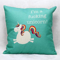 Мультфильм Unicorn шаблон квадратной формы Наволочка (Без подушки в салоне)- Цветной 1TopShop