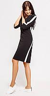 Платье Swallow-082 белорусский трикотаж, черный, 44