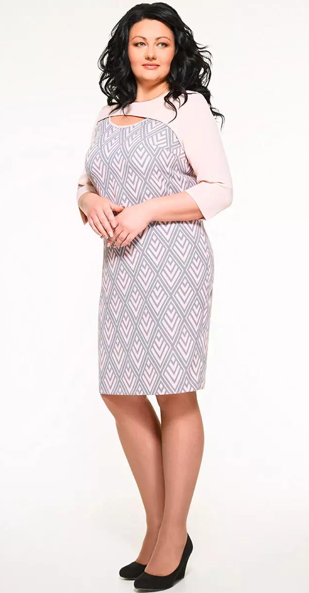 Платье Swallow-094/1 белорусский трикотаж, розовые тона, 52