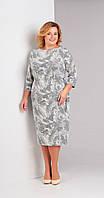 Платье Swallow-105 белорусский трикотаж, серые-тона, 50