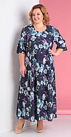 Платье Novella Sharm-3176-c белорусский трикотаж, цветы, 60