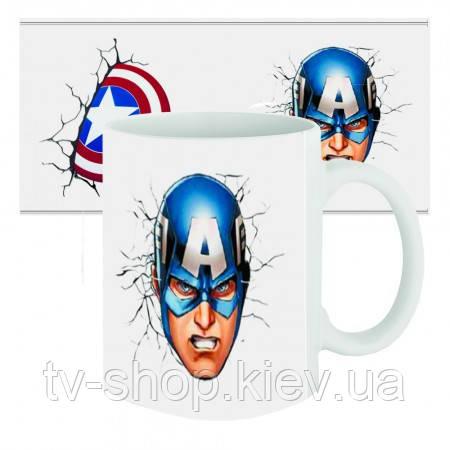 Чашка супергерой Капітан Америка