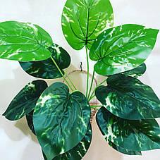 Искусственный,декоративный куст-филодендрон ( латекс 40 см), фото 2
