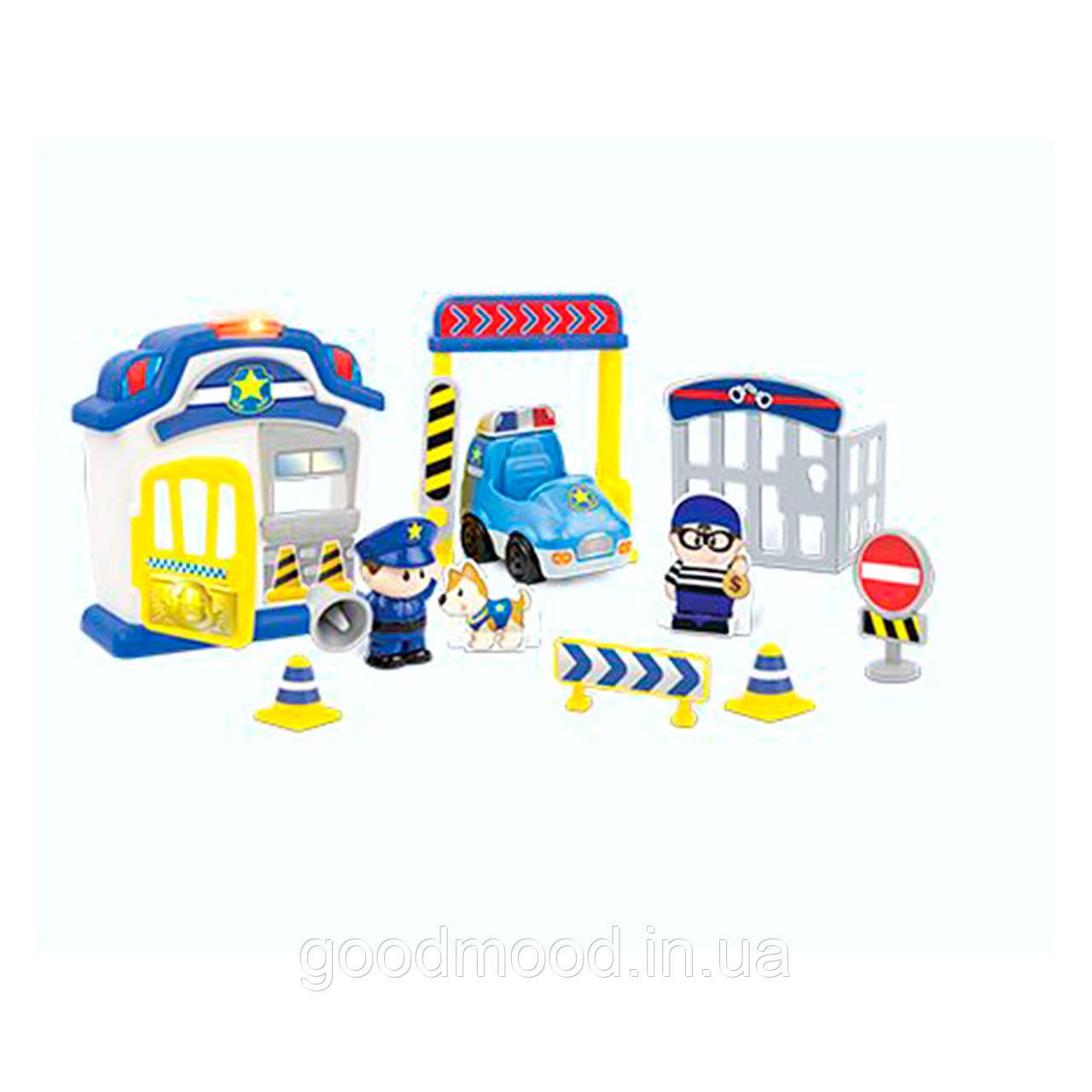 Набір ігровий 1306-NL поліція, машина, фігурка, дор.знаки, муз., світло, бат., кор., 44-25-8 см.