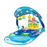 Коврик для младенца 0860-NL   92-54см,дуга,пианино,подвеск,муз,зв,свет,на бат, в кор,50-63-11см