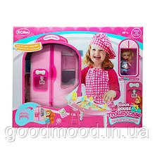 Меблі QL048 кухня-валіза (ручка+колеса), посуд, продукти, лялька, кор., 54,5-42-15 см.