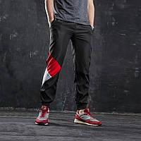 75960244 Штаны спортивные мужские черные c красным от бренд ТУР модель Джокер  (Joker). Размер