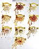 Клипсы-подхваты стеклярусные 535634, фото 4