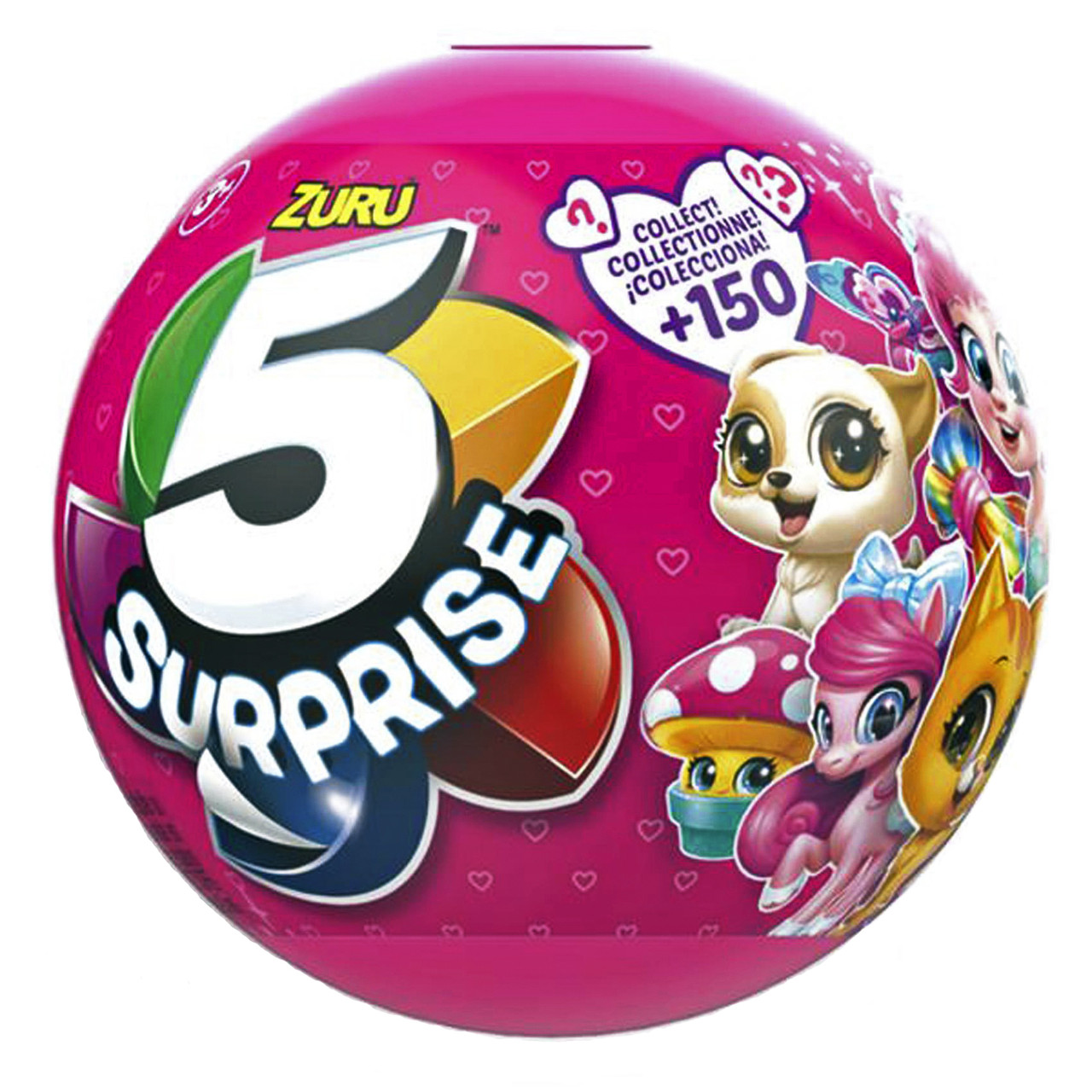 Шар сюрприз для девочек 5 Surprise Pink Mystery Capsule Collectible Toy, «Zuru» (7702)