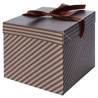 """Коробка подарочная бумажная """"Мужская"""" N00373, размер 15*15*15см, коробки для подарков, подарочная коробка, коробочки"""