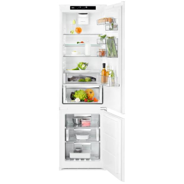 Встраиваемый холодильник с морозильником  AEG SCE81926TS