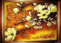 Картина из янтаря. Панно Сакура.