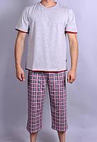 Мужская пижама  Natural Club 010  L Серый с красным