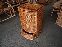 Ящик дутый с шуфладкой для белья плетеный из лозы