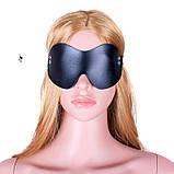 """Кожаная маска """"Стэлс""""11796 с заклепками БДСМ реклама, фото 2"""