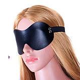 """Кожаная маска """"Стэлс""""11796 с заклепками БДСМ реклама, фото 4"""