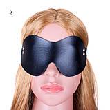 """Кожаная маска """"Стэлс""""11796 с заклепками БДСМ реклама, фото 5"""