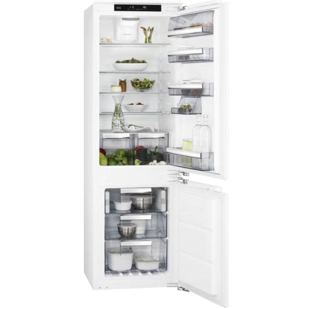 Холодильник с морозильником  встраиваемый  AEG SCE81826TF