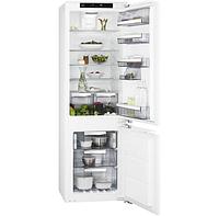 Холодильник с морозильником  встраиваемый  AEG SCE81826TF, фото 1