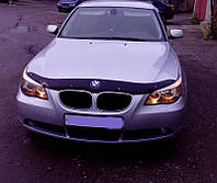 Дефлектор капота (мухобойка) BMW 5 серии (60 кузов) с 2003 г.в.