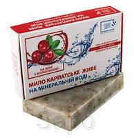 Мыло натуральное на минеральной воде вино и клюква, 50г, SAPO