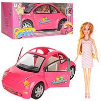 Кукла 66169  30см, машина 42см (открываются двери), в кор-ке, 43-20,5-20,5см