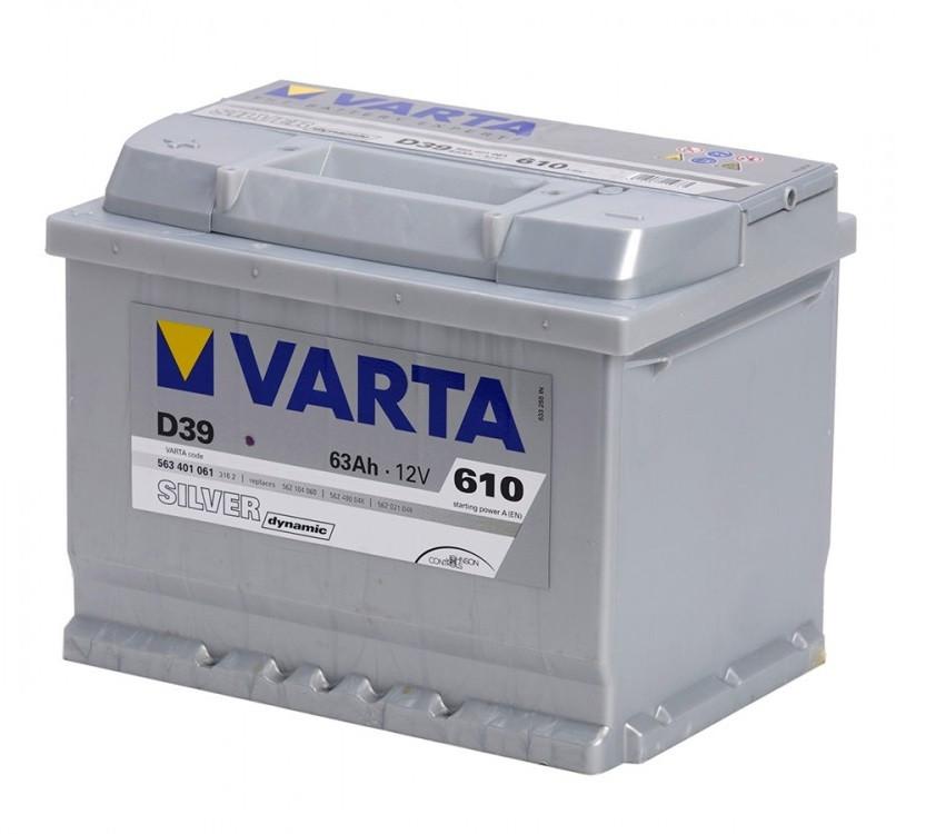 Акумулятор VARTA 63Ач Silver Dynamic D39 (1)