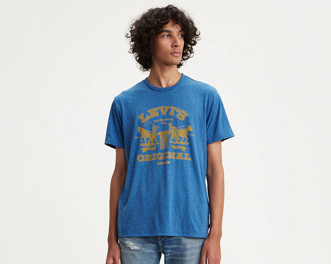 Мужская футболка Levis®  Classic Graphic Tee - Galaxy Blue Block Print 2 Hose Pull