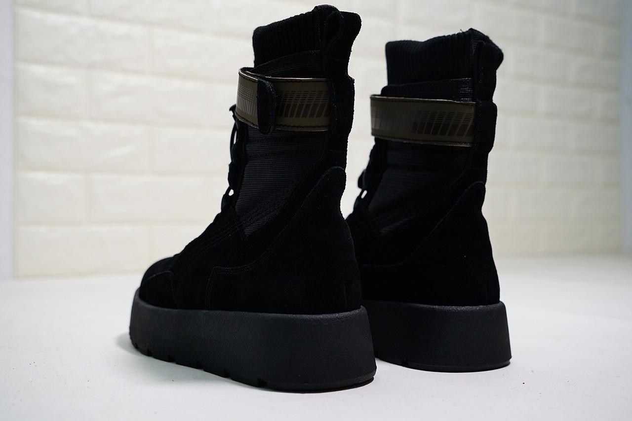 online store 9d59b 9e6fd Женские ботинки PUMA x Fenty Scuba Boot Black, Реплика люкс