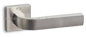 Ручка дверная на квадратной розетке CONVEX 1115  матовый никель