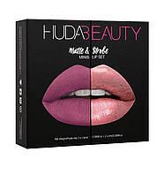 Набор из 4 мини-помад Huda Beauty Matte and Strobe Trophy Wife Set, фото 1