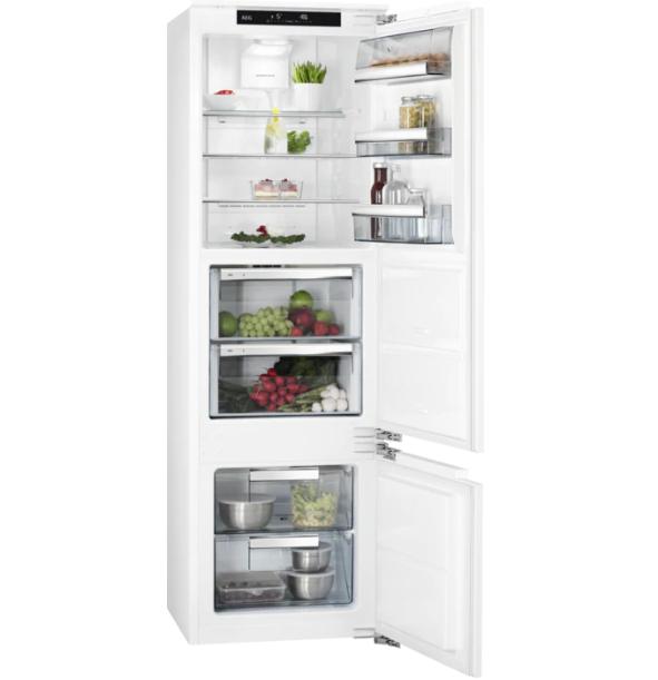 Встраиваемый холодильник с морозильником  AEG SCE81816ZF