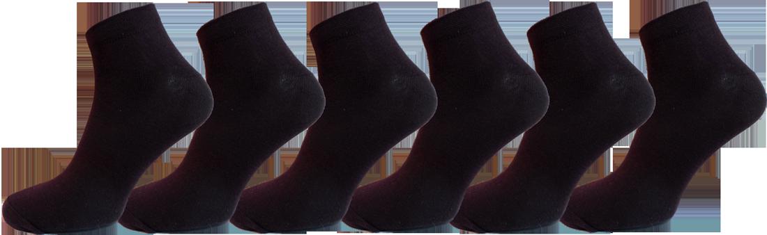 """Чоловічі шкарпетки бавовна 100% снікерс, чорні """"lomani"""""""