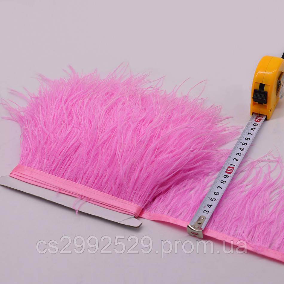 Перо страуса (10м)розовый