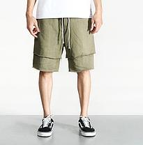 Светлые Летние мужские гетто рваные шорты Nelly Kenny West, фото 3