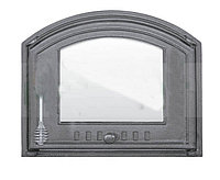 Дверки чугунные Halmat 410X485 DCHS4 со стеклом. Дверцы для печи и барбекю